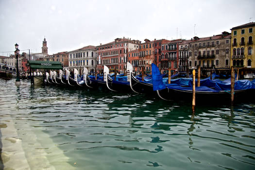 Grand Canal, Gondolas and High Tide