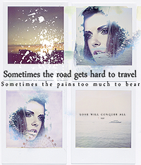 the road gets hard to travel... by girlgonegrey
