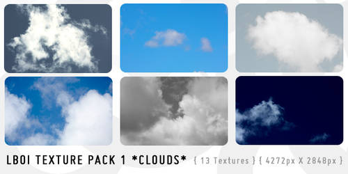 13 Free HighRes Cloud Textures