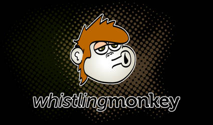 Whistling Monkey Logo by littleboxofideas