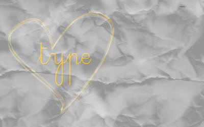 Crumpled Typography Wallpaper by littleboxofideas