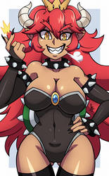 Red Bowsette by dmy-gfx