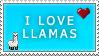 Llama Stamp by Melacee