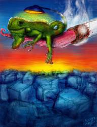 Self Illuminated Iguana