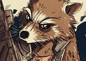 Rocket Raccoon by Nicohitoride