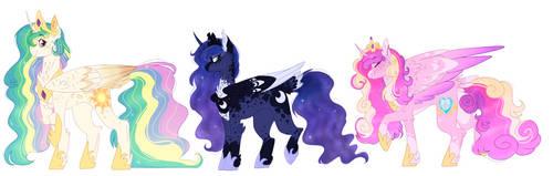 The Princesses Line Up by WanderingPegasus