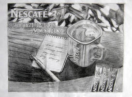 Nescafe ad on pencils by appledaniels