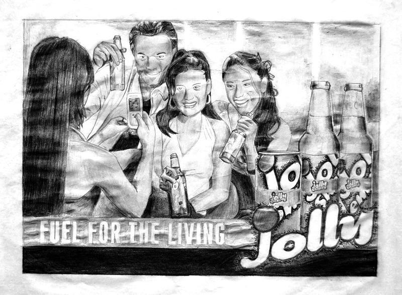 Jolly Shandy ad on pencils by appledaniels