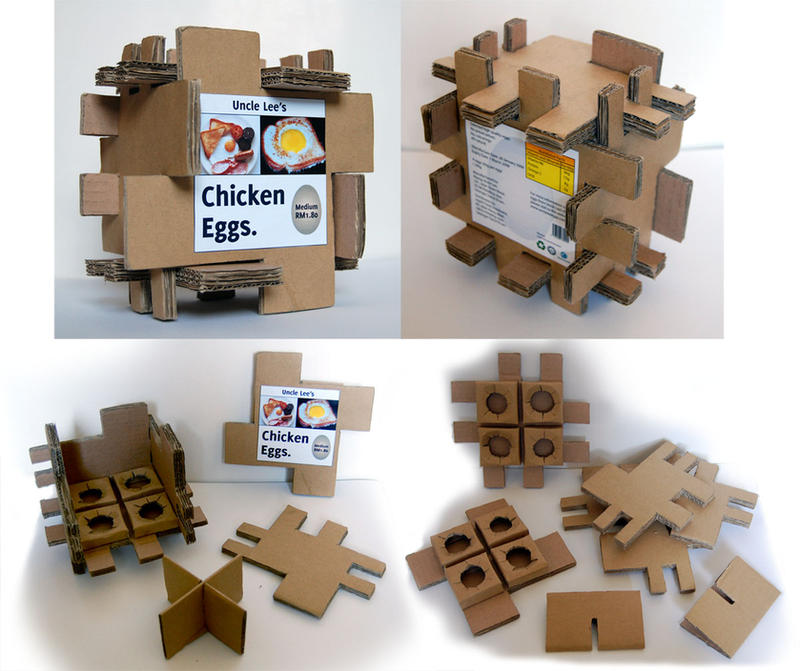 Egg Packaging-Corrugated Card by appledaniels