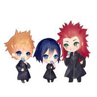 Kingdom Hearts : Seasalt Trio chibi by jichuux