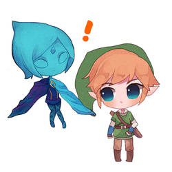 Skyward Sword : Fi and Link by jichuux