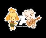 Animal Crossing - isabelle and kk slider