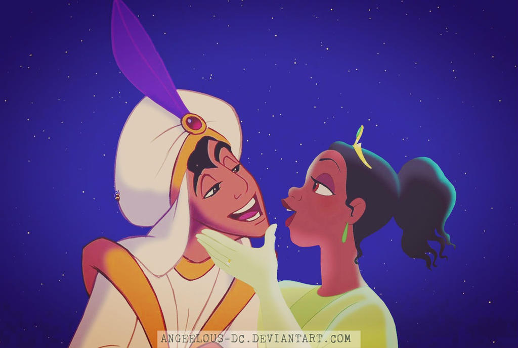 Aladdin/Tiana - Happy Valentine's Day by angeelous-dc