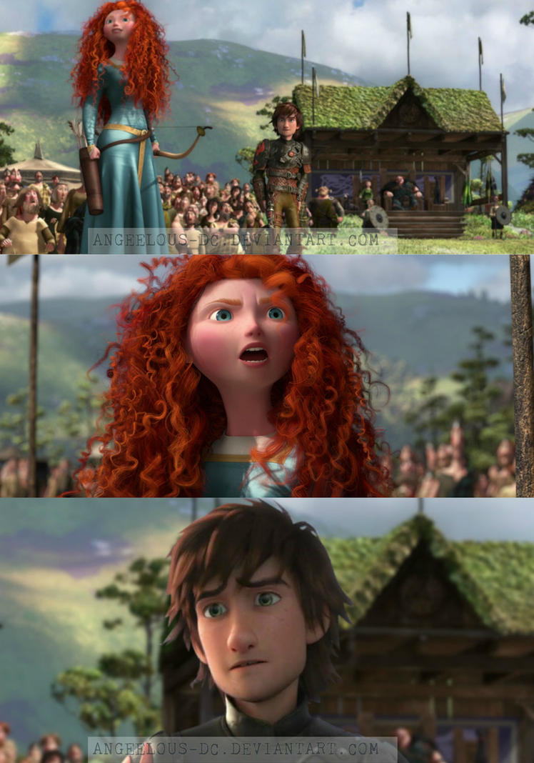 Merida/Hiccup by angeelous-dc