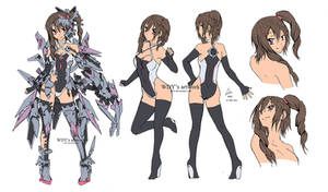 OC mecha musume (character concept) by wdy1000