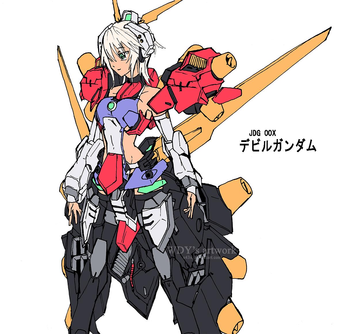 Devil Gundam Mecha Musume by wdy1000 on DeviantArt