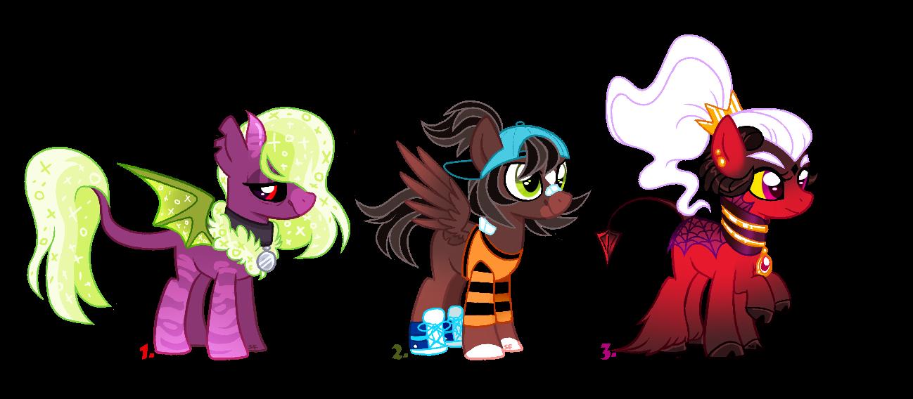 [ADOPTCLOSED] Mixed pony batch ONE LEFT by SugahFox