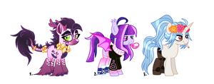 [ADOPTCLOSED] Mixed pony batch 2 by SugahFox