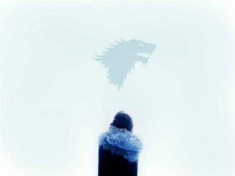 Jon Snow - Blue Direwolf