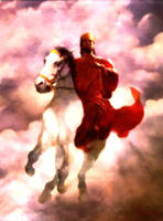 Jesus Rider on a White Horse I by christians