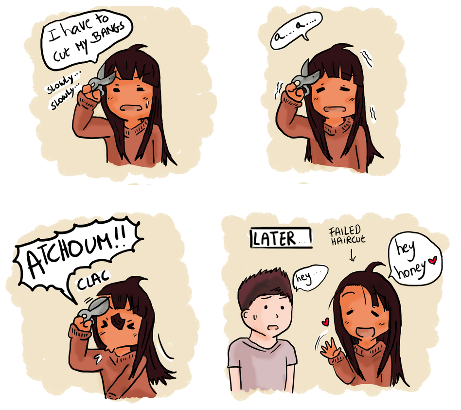 Dross Adventures : cutting my bangs by DrossLoveYaoi