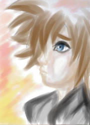 Sora colored sketch by Caeserlicious
