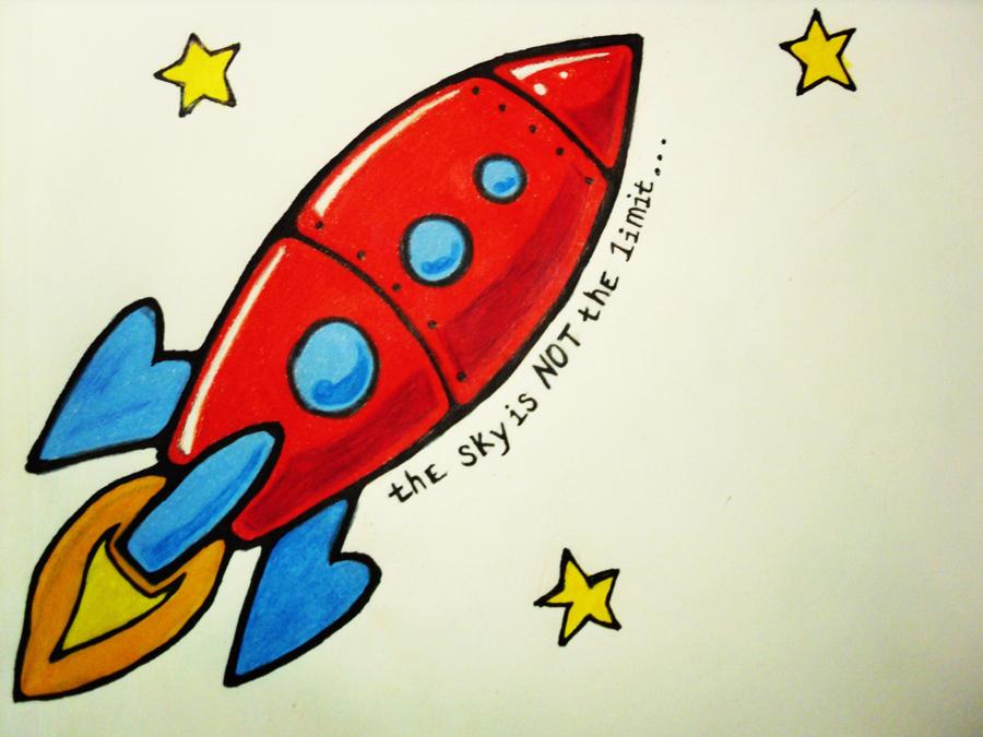 Rocketship tattoo design by ray of moonshine on deviantart