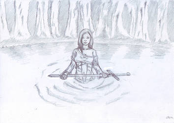 Lady of the lake by Loup-sauvage
