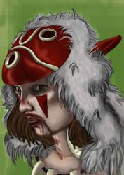 Mononoke Selfportrait by Loup-sauvage