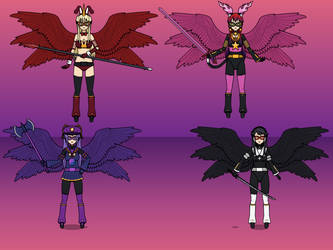 Girls of Justice: Goddess Forms by NekoLover3000
