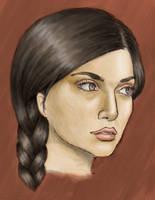 Katniss on fire by Elena228