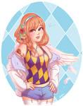 Half Angel Lolita (Free Lineart)
