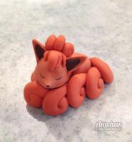 Vulpix Clay Figurine by Asmaee