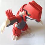 Groudon - Clay figurine
