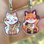 Maneki Neko and Manekitsune straps