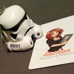 Stormtrooper Keychain Sculpture