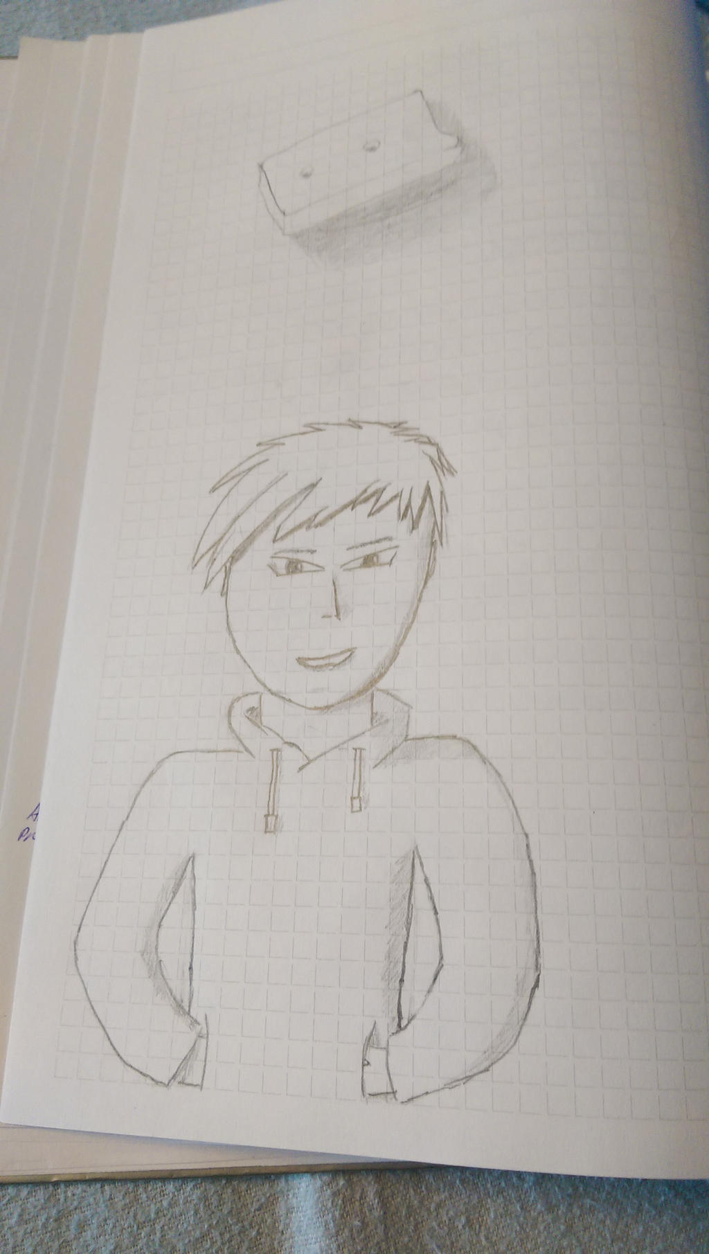 Guy with hoodie - boredome at scool by Bridge2Brain