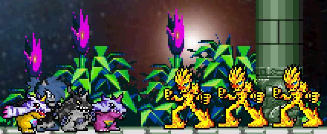 Digimon Battle by BluethornWolf