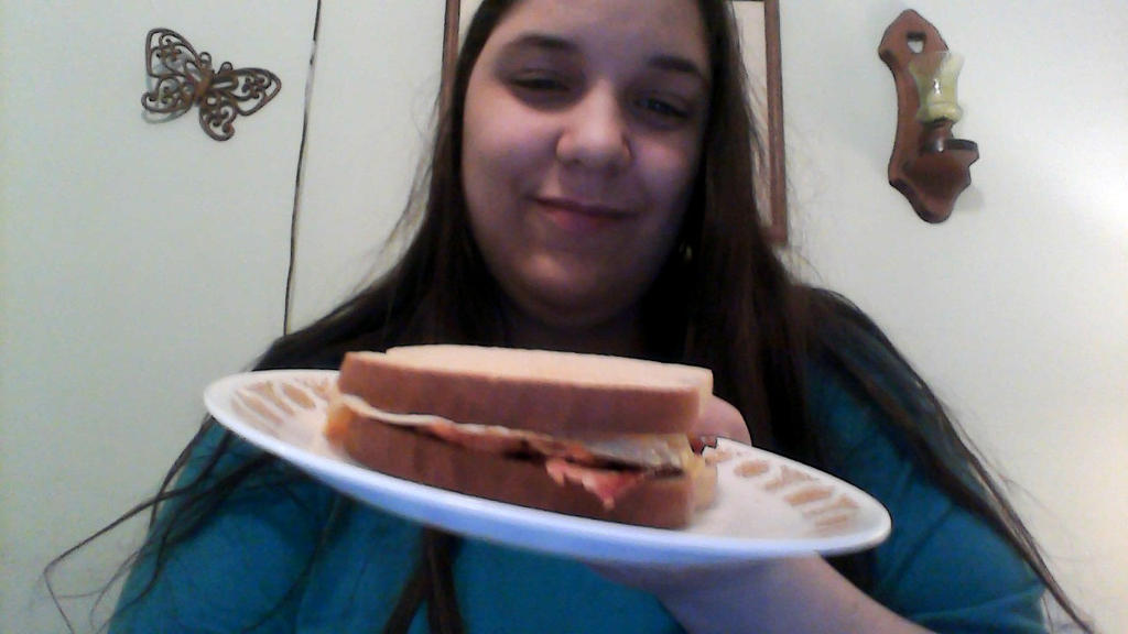 My bacon egg cheese sandwich by BluethornWolf