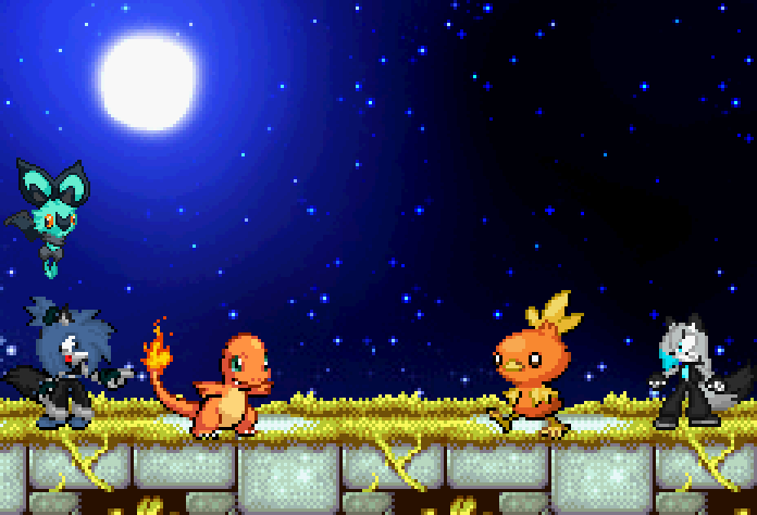 Pokemon Fire Battle by BluethornWolf