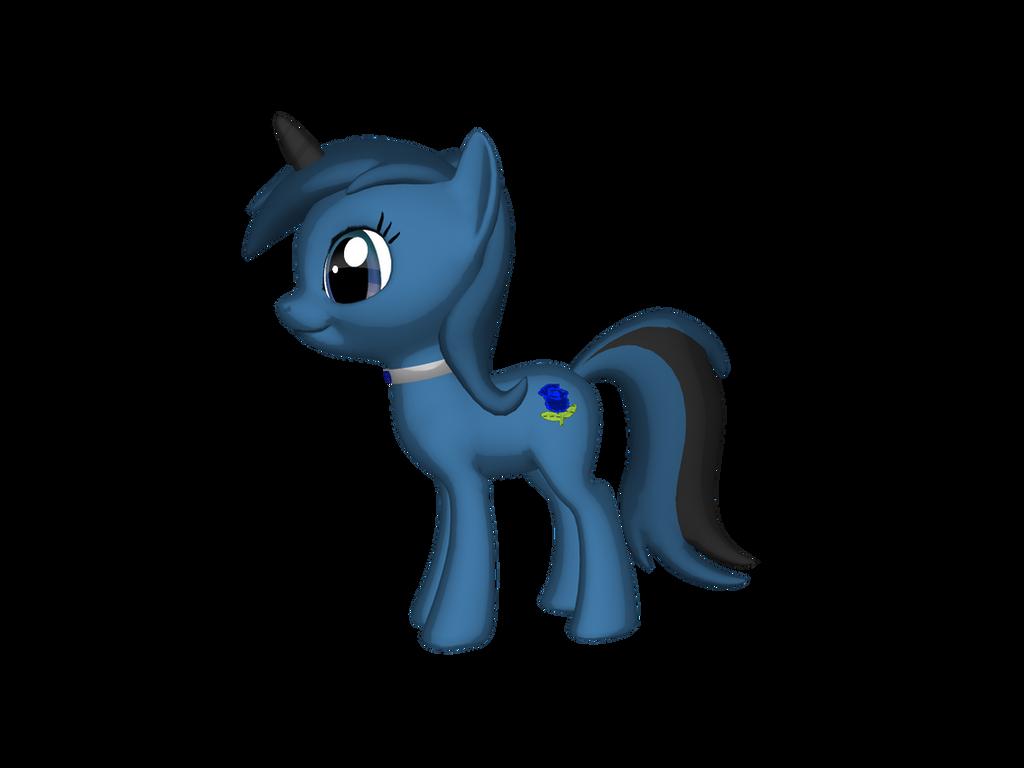 Bluerose Aurora (mane revamp) by BluethornWolf