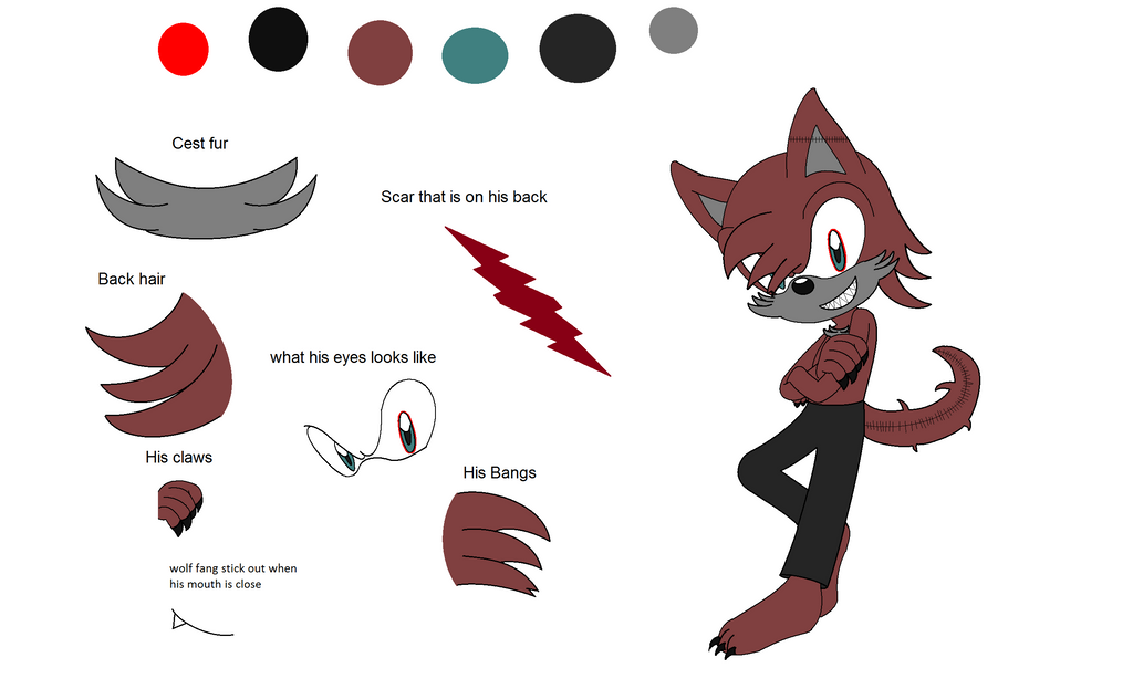Sanity ref sheet by BluethornWolf