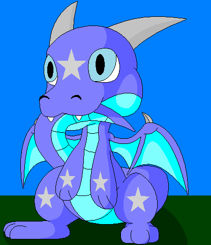 Skoric the chibi dragon by BluethornWolf
