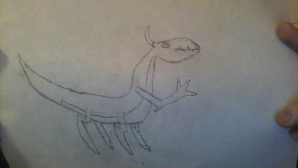 Unknown Species :w.i.p: by BluethornWolf
