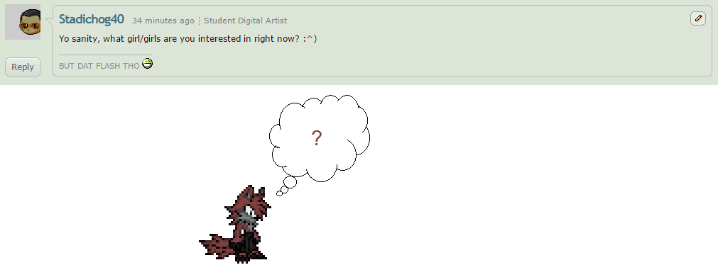Sanity question 9 by BluethornWolf