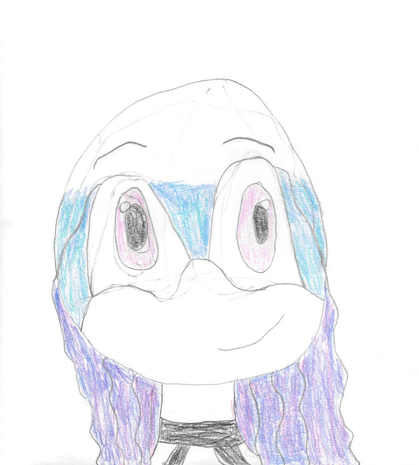 Headshout pencils color :Layla the Jellyfish: by BluethornWolf