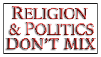 Religion and Politics don't mix stamp