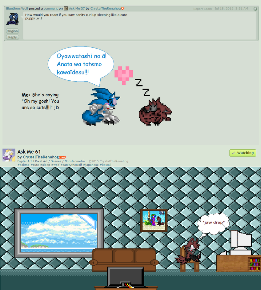 Sanity reaction to the answer :LOLZ: by BluethornWolf