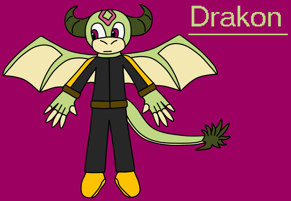 Drakon The Dragon by BluethornWolf