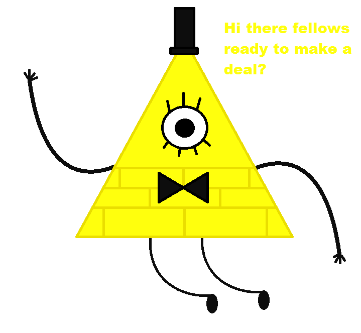 Bill cipher doodle by BluethornWolf